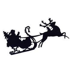 Santa in sled cutout